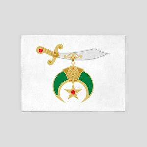 Shriner Sword 5'x7'Area Rug
