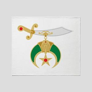 Shriner Sword Throw Blanket