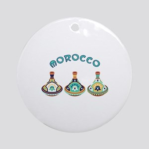 Morocco Tagines Round Ornament