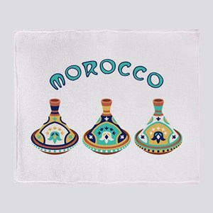 Morocco Tagines Throw Blanket