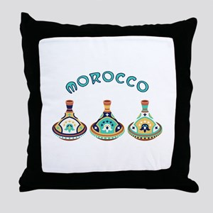 Morocco Tagines Throw Pillow