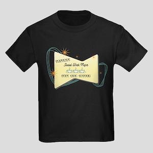 Instant Social Work Major Kids Dark T-Shirt