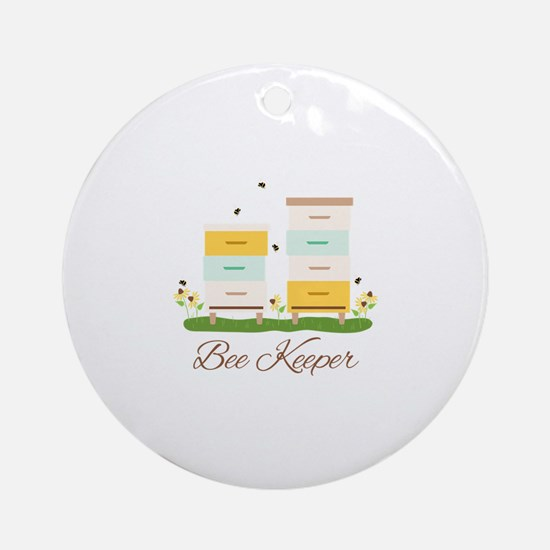 Bee Keeper Boxes Round Ornament