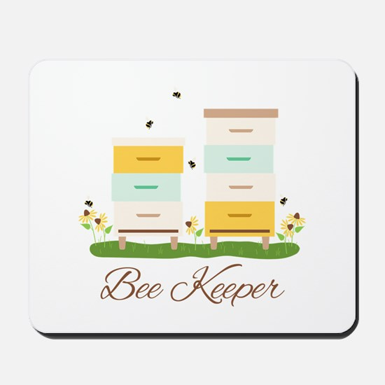 Bee Keeper Boxes Mousepad
