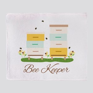 Bee Keeper Boxes Throw Blanket