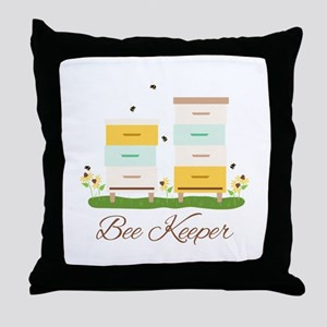 Bee Keeper Boxes Throw Pillow