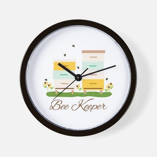 Bee Keeper Boxes Wall Clock