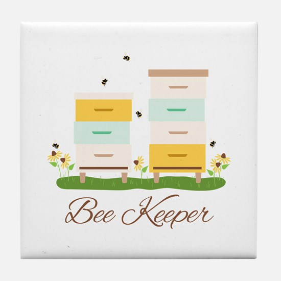 Bee Keeper Boxes Tile Coaster