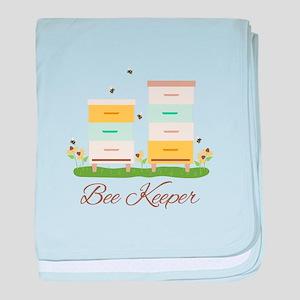 Bee Keeper Boxes baby blanket