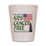 Kidscancertree.com Shot Glass