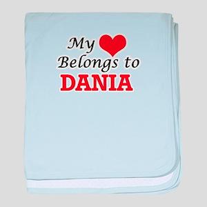 My heart belongs to Dania baby blanket