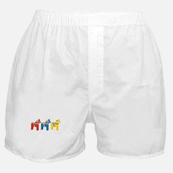 Dala Horse Border Boxer Shorts
