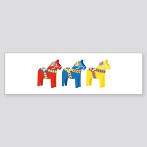 Dala Horse Border Bumper Sticker