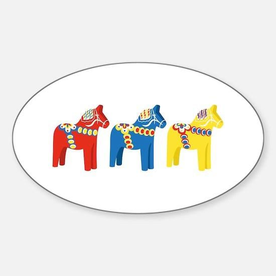 Dala Horse Border Stickers