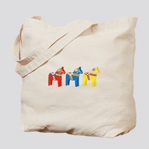 Dala Horse Border Tote Bag