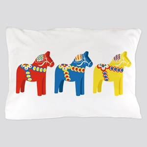 Dala Horse Border Pillow Case