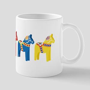 Dala Horse Border Mugs