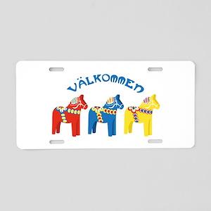 Dala Valkommen Horses Aluminum License Plate