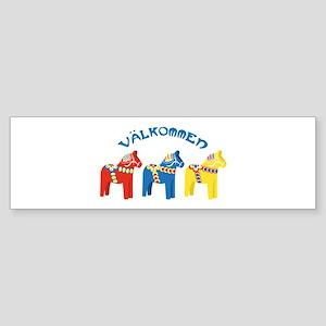 Dala Valkommen Horses Bumper Sticker