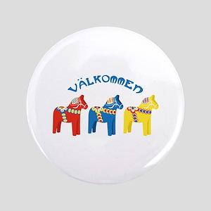 Dala Valkommen Horses Button