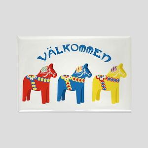 Dala Valkommen Horses Magnets