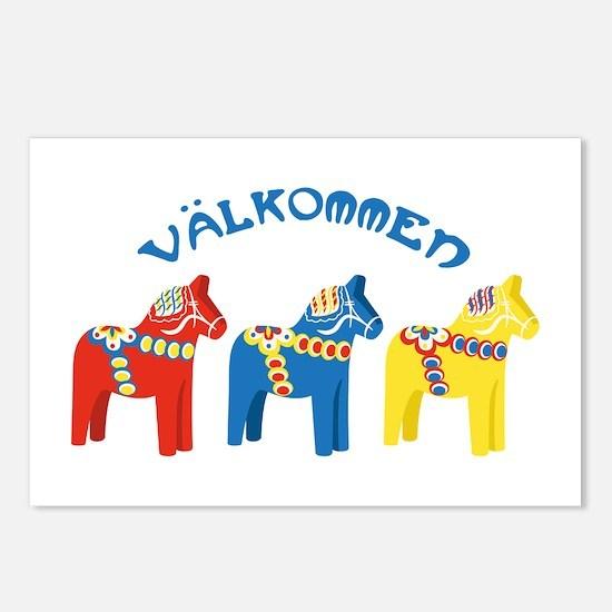 Dala Valkommen Horses Postcards (Package of 8)