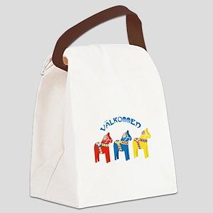 Dala Valkommen Horses Canvas Lunch Bag