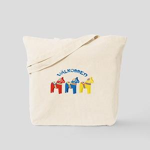 Dala Valkommen Horses Tote Bag