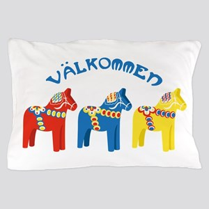 Dala Valkommen Horses Pillow Case