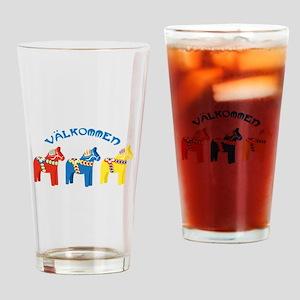 Dala Valkommen Horses Drinking Glass
