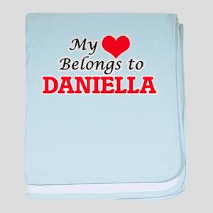 My heart belongs to Daniella baby blanket
