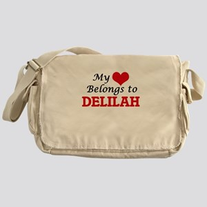 My heart belongs to Delilah Messenger Bag