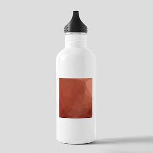 Burnt Sienna Orange Abstract Low Polygon Backgroun