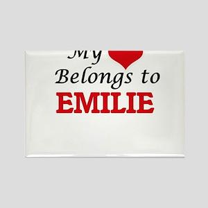 My heart belongs to Emilie Magnets
