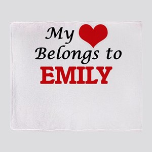 My heart belongs to Emily Throw Blanket