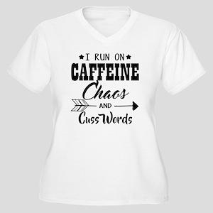 Run on caffeine chaos Plus Size T-Shirt