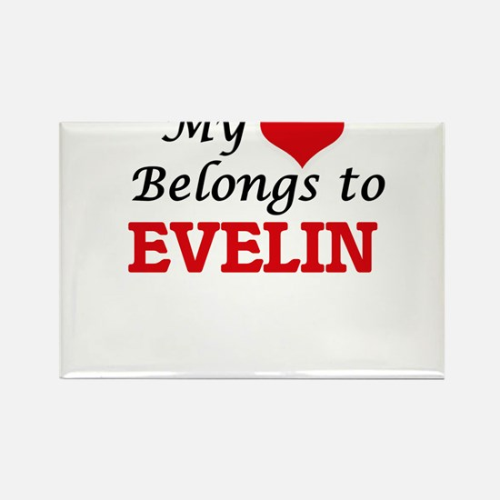 My heart belongs to Evelin Magnets