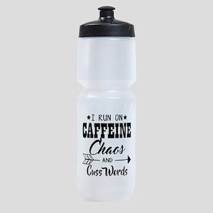 Run on caffeine chaos Sports Bottle