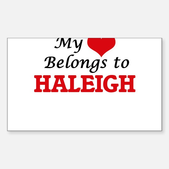 My heart belongs to Haleigh Decal