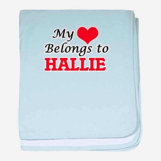 My heart belongs to Hallie baby blanket
