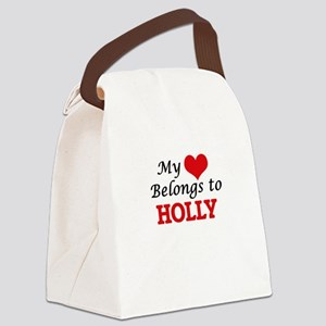 My heart belongs to Holly Canvas Lunch Bag