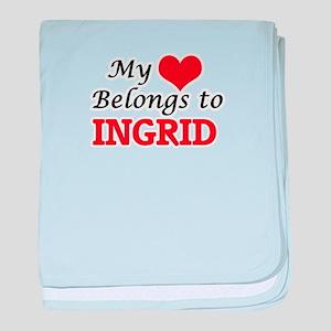 My heart belongs to Ingrid baby blanket