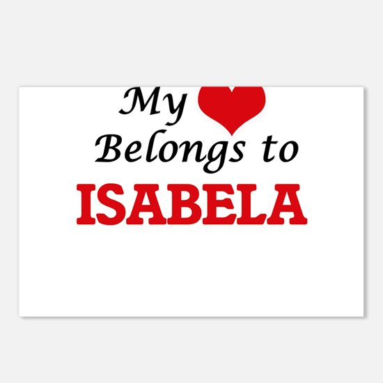 My heart belongs to Isabe Postcards (Package of 8)