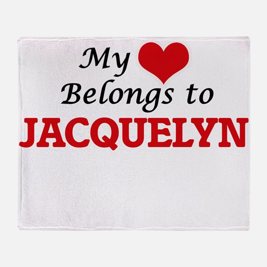 My heart belongs to Jacquelyn Throw Blanket