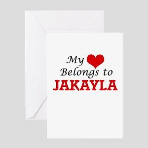 My heart belongs to Jakayla Greeting Cards