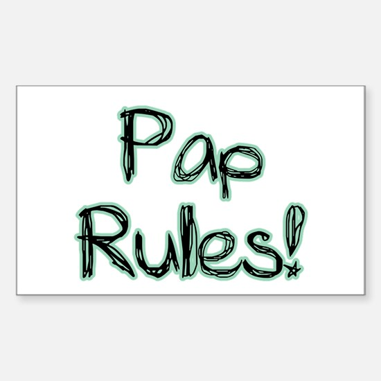 Pap Rules! Rectangle Decal