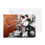 Meowy Christmas Greeting Cards (Pk of 10)