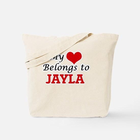 My heart belongs to Jayla Tote Bag