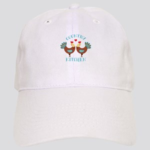 Country Kitchen Roosters Baseball Cap