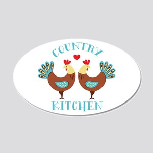Country Kitchen Roosters Wall Decal